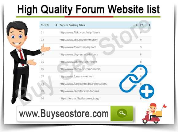 Buy High Quality Forum Website list
